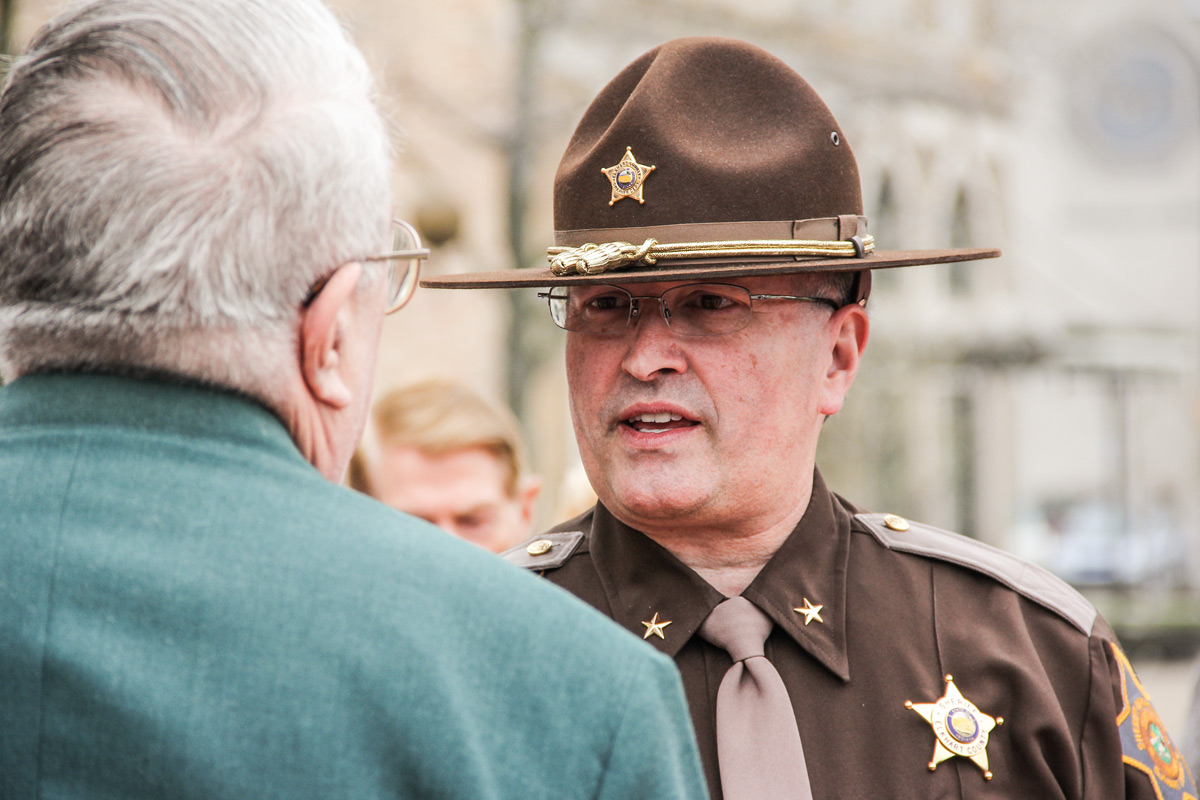 Bradley D. Rogers, Retired Sheriff of Elkhart County, Indiana. - Photo by Benjamin Rogers